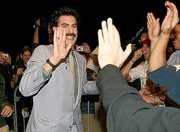 high five sasha baron cohen