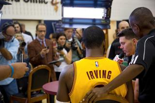 Kyrie Irving Meets The Media
