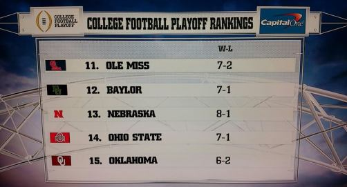 ohio state cfb rankings