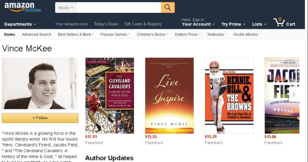 Amazon.com  Vince McKee  Books  Biography  Blog  Audiobooks  Kindle